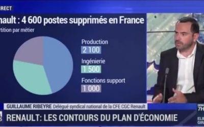 Plan d'Economie Renault – Interview de G.Ribeyre BFM-Business